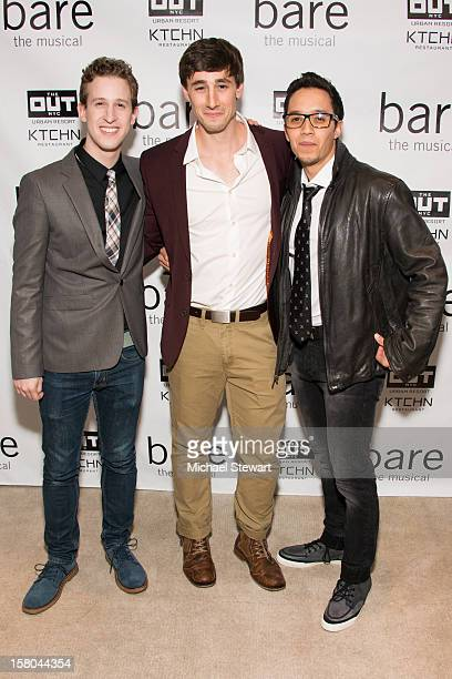 Actors Alex Wyse Anthony Festa and Justin Gregory Lopez attend BARE The Musical Opening Night After Party at Out Hotel on December 9 2012 in New York...