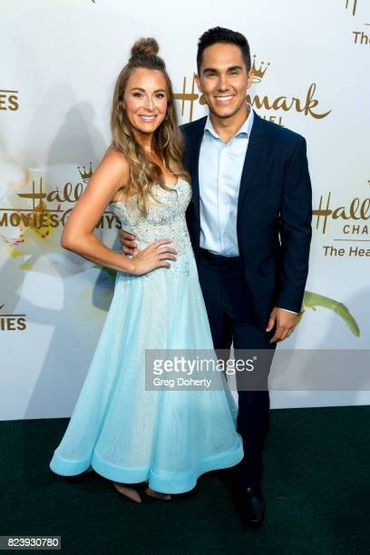 Actors Alexa PenaVega and Carlos PenaVega arrive for the 2017 Summer TCA Tour Hallmark Channel And Hallmark Movies And Mysteries on July 27 2017 in...