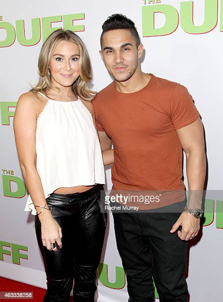 Actors Alexa PenaVega and Carlos PenaVega attend a special Los Angeles fan screening of THE DUFF on February 12 2015 in Los Angeles California