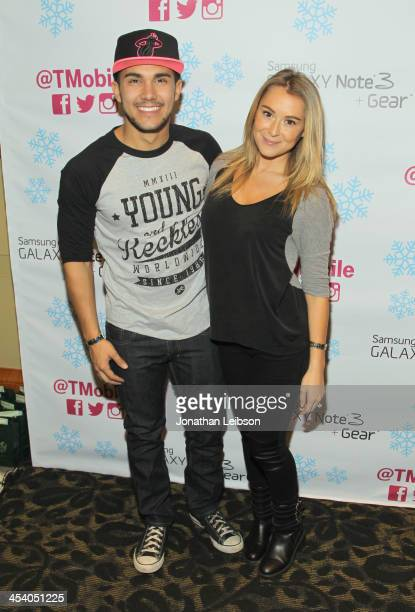 Actors Alexa Vega and Carlos Pena attend KIIS FM's Jingle Ball 2013 gift suite at Staples Center on December 6 2013 in Los Angeles CA