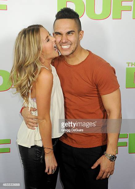 Actors Alexa Vega and Carlos Pena Jr arrive at the Los Angeles screening of The Duff at TCL Chinese 6 Theatres on February 12 2015 in Hollywood...