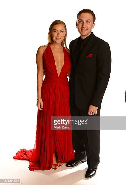Actors Alexa Vega and Daryl Sabara pose in the portrait studio during the 2013 NCLR ALMA Awards at Pasadena Civic Auditorium on September 27 2013 in...