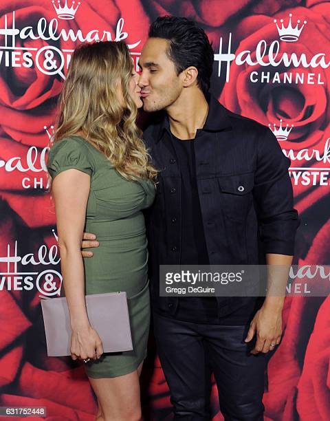 Actors Alexa VegaPena and Carlos PenaVega arrive at Hallmark Channel And Hallmark Movies And Mysteries Winter 2017 TCA Press Tour at The Tournament...