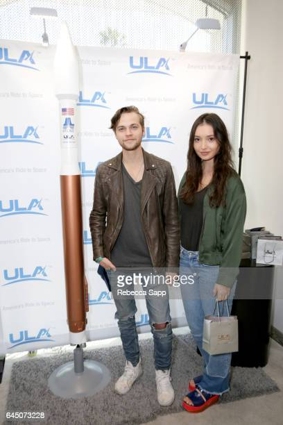 Actors Alexander Calvert and Jenna Berman attend Kari Feinstein's PreOscar Style Lounge at the Andaz Hotel on February 24 2017 in Los Angeles...