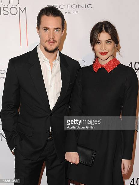Actors Alexander Dreymon and Anne Curtis attend the Los Angeles Premiere of 'Blood Ransom' at ArcLight Hollywood on October 28 2014 in Hollywood...