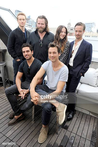 Actors Alexander Fehling Antoine Monot Jr Hannah Herzsprung and Tom Schilling Actors Elyas M'Barek and Florian David Fitz attend the German Talent...