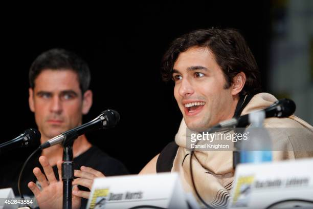 Actors Alexander Koch and Eddie Cahill attend the CBS 'Under The Dome' panel exclusive sneak preview during ComicCon International at San Diego...