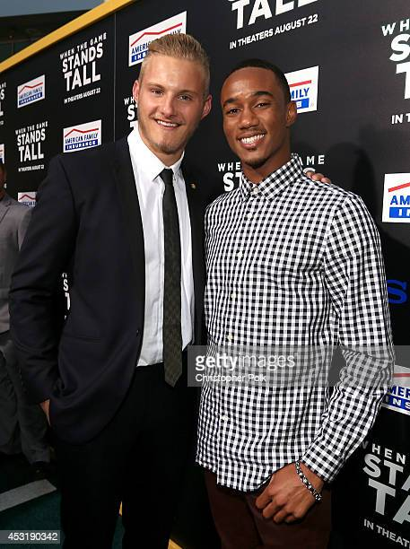 Actors Alexander Ludwig and Jessie Usher attend the premiere of Tri Star Pictures' When The Game Stands Tall at ArcLight Cinemas on August 4 2014 in...