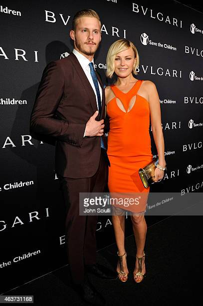 Actors Alexander Ludwig and Malin Akerman attend BVLGARI and Save The Children STOP THINK GIVE PreOscar Event at Spago on February 17 2015 in Beverly...