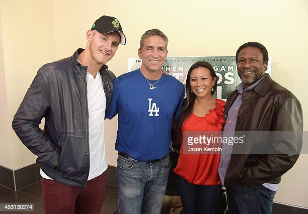 Actors Alexander Ludwig Jim Caviezel journalist Angela Sun and director Thomas Carter attend the LA Youth Sports Outreach Screening Of 'When The Game...