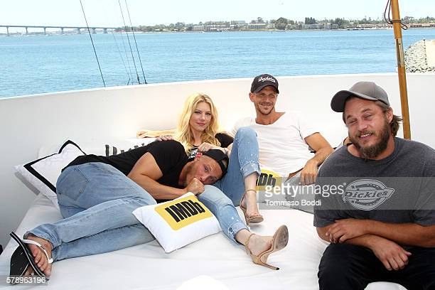 Actors Alexander Ludwig Katheryn Winnick Gustaf Skarsgard and Travis Fimmel of Vikings attend the IMDb Yacht at San Diego ComicCon 2016 Day Two at...