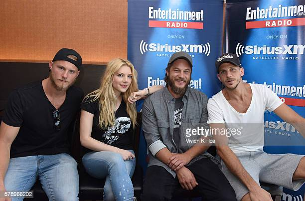Actors Alexander Ludwig Katheryn Winnick Travis Fimmel and Gustaf Skarsgard attend SiriusXM's Entertainment Weekly Radio Channel Broadcasts From...