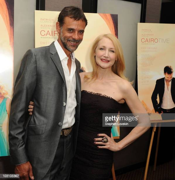 Actors Alexander Siddig and Patricia Clarkson attend the premiere of 'Cairo Time' at Cinema 3 on July 26 2010 in New York City