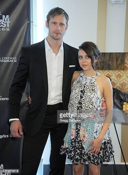 Actors Alexander Skarsgard and Bel Powley arrive at the 2015 Los Angeles Film Festival screening of Diary Of A Teenage Girl at Regal Cinemas LA Live...