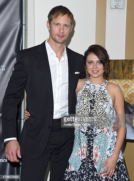 Actors Alexander Skarsgard and Bel Powley arrive at the 2015 Los Angeles Film Festival premiere of 'The Diary of a Teenage Girl' at Regal Cinemas LA...