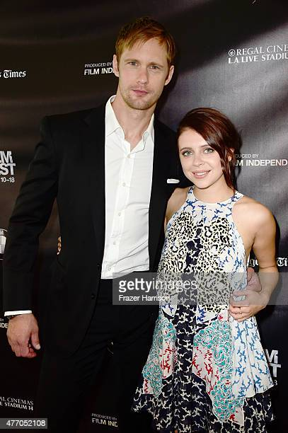 Actors Alexander Skarsgard and Bel Powley attend the Diary of a Teenage Girl screening during the 2015 Los Angeles Film Festival at Regal Cinemas LA...