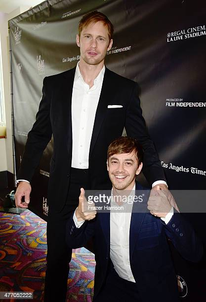 Actors Alexander Skarsgard and Jorma Taccone attend the Diary of a Teenage Girl screening during the 2015 Los Angeles Film Festival at Regal Cinemas...