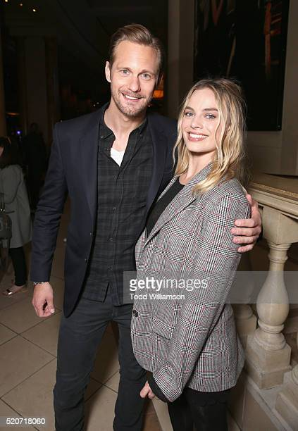 "Actors Alexander Skarsgard and Margot Robbie of 'The Legend of Tarzan' attend CinemaCon 2016 Warner Bros Pictures Invites You to ""The Big Picture"" an..."
