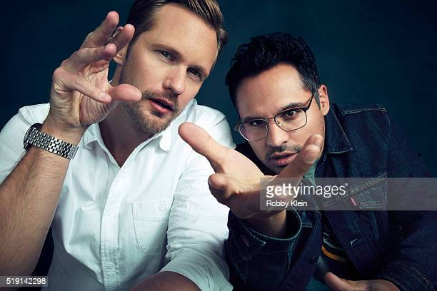 Actors Alexander Skarsgard and Michael Penaare photographed for The Wrap on March 13 2016 in Austin Texas