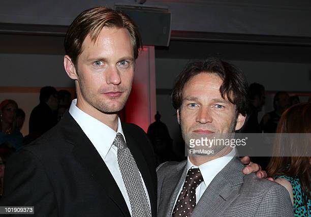 Actors Alexander Skarsgard and Stephen Moyer arrive at HBO's True Blood Season 3 premiere after party held at Boulevard3 on June 8 2010 in Hollywood...