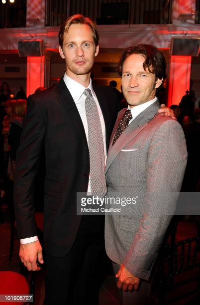 Actors Alexander Skarsgard and Stephen Moyer attend HBO's True Blood Season 3 premiere after party held at Boulevard3 on June 8 2010 in Hollywood...