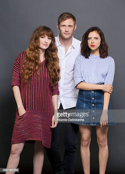 Actors Alexander Skarsgard Bel Powley and director Marielle Heller of 'Diary of a Teenage Girl' are photographed for Los Angeles Times on June 12...