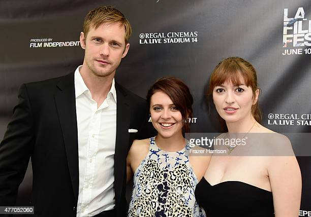Actors Alexander Skarsgard Bel Powley and director Marielle Heller attend the Diary of a Teenage Girl screening during the 2015 Los Angeles Film...