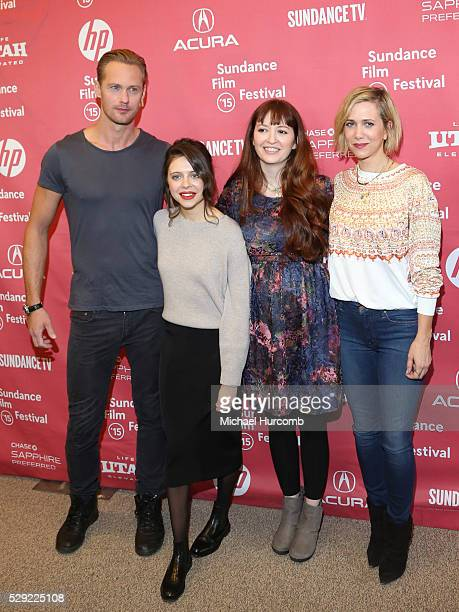 """Actors Alexander Skarsgard, Bel Powley, director Marielle Heller and actor Kristen Wiig attend """"The Diary of a Teenage Girl"""" premiere at the 2015..."""