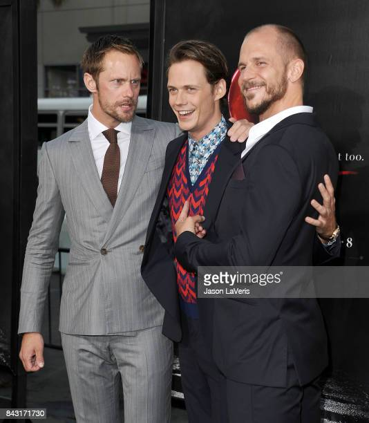 Actors Alexander Skarsgard Bill Skarsgard and Gustaf Skarsgard attend the premiere of It at TCL Chinese Theatre on September 5 2017 in Hollywood...