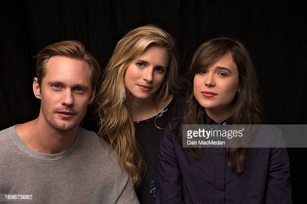 Actors Alexander Skarsgard Ellen Page and Brit Marling are photographed for USA Today on May 18 2013 in Los Angeles California PUBLISHED IMAGE