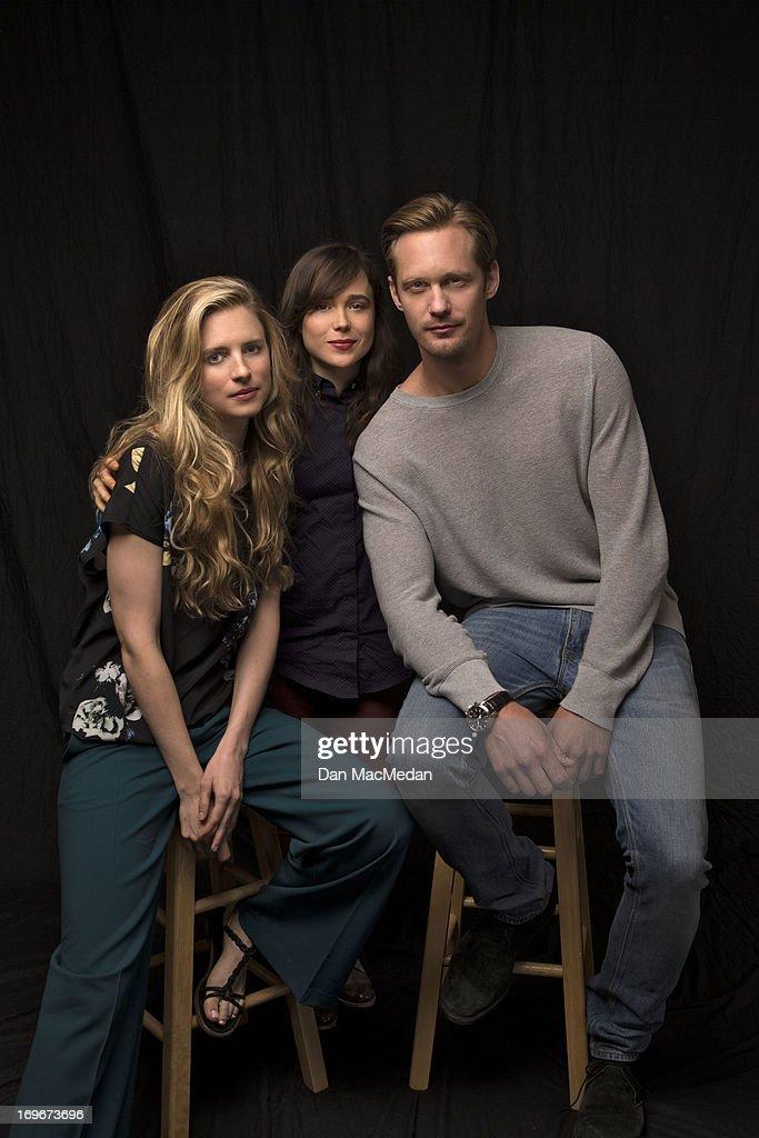 Alexander Skarsgard, Ellen Page and Brit Marling, USA Today, May 29, 2013