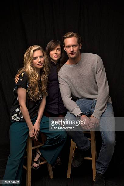 Actors Alexander Skarsgard Ellen Page and Brit Marling are photographed for USA Today on May 18 2013 in Los Angeles California