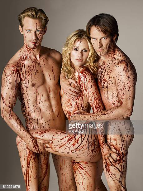 Actors Alexander Skarsgård Anna Paquin and Stephen Moyer are photographed for Rolling Stone Magazine on June 30 2010 COVER IMAGE