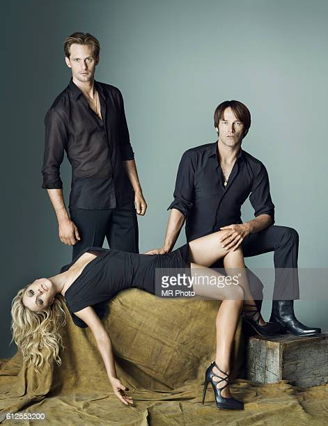 Actors Alexander Skarsgård Anna Paquin and Stephen Moyer are photographed for Rolling Stone Magazine on June 30 2010 PUBLISHED IMAGE