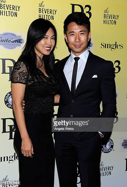 Actors Alexandra Chun and James KysonLee attend the DB3 presents Fashion Magazine SINGLES event at The Beverly Hilton hotel on May 12 2011 in Beverly...