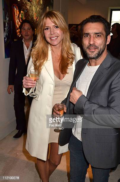 Actors Alexandra Genoves and Jean Pierre Martins attend the Champagne Nicolas Feuillatte Hosts Nicolas Taylor Cocktail Party at Le Cloitre Ouvert on...