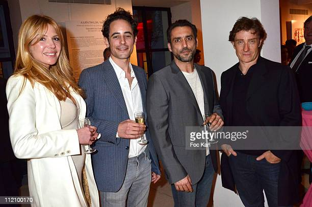 Actors Alexandra Genoves Clement Allanic Jean Pierre Martins and Thierry Fremont attend the Champagne Nicolas Feuillatte Hosts Nicolas Taylor...