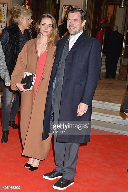 actors Alexandra Gonin and Gregori Bacquet attend '23rd Gala Pour L'Espoir 2015' Auction Show To Benefit Against Cancer Associations at Theatre des...