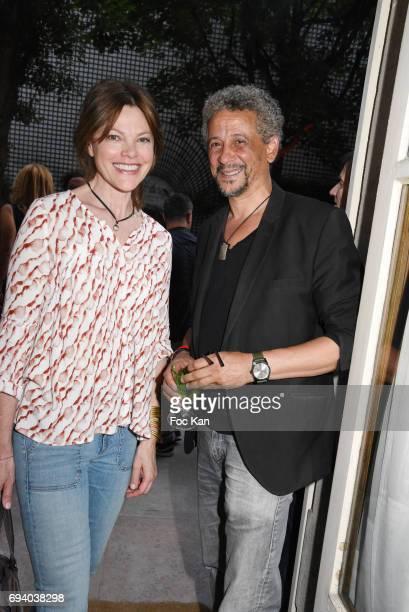 Actors Alexandra Kazan and Abel Jafri attend Sam Bobino Birthday Party at Le Jardin Rue d Artois on June 8 2017 in Paris France