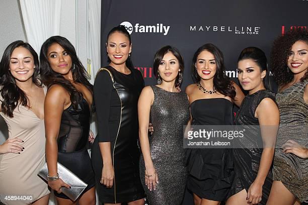 Actors Alexandra Rodriguez Vivian Lamolli Jes Meza Ashley Campuzano Vannessa Vasquez Alicia Sixtos and Andrea Sixtos attend Latina Magazine's 30...
