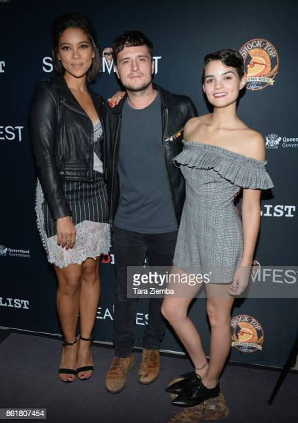 Actors Alexandra Shipp Josh Hutcherson and Brianna Hildebrand attend the 2017 Screamfest Horror Film Festival at TCL Chinese 6 Theatres on October 15...