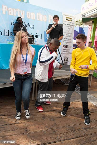 Actors Alexandria DeBerry and Dylan Riley Snyder Mattel Party On The Pier Benefiting Mattel Children's Hospital UCLA Inside at Pacific Park at Santa...