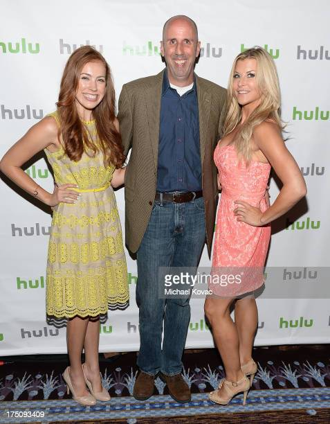 Actors Alexia Dox Robert 'Bob' Clendenin and Allison Dunbar attend the Hulu 2013 Summer TCA Tour at The Beverly Hilton Hotel on July 31 2013 in...