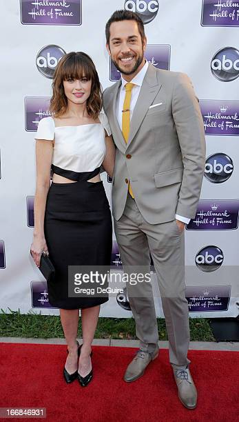 Actors Alexis Bledel and Zachary Levi arrive at Disney ABC Television and the Hallmark Hall Of Fame's premiere of 'Remembering Sunday' at Fox Studio...