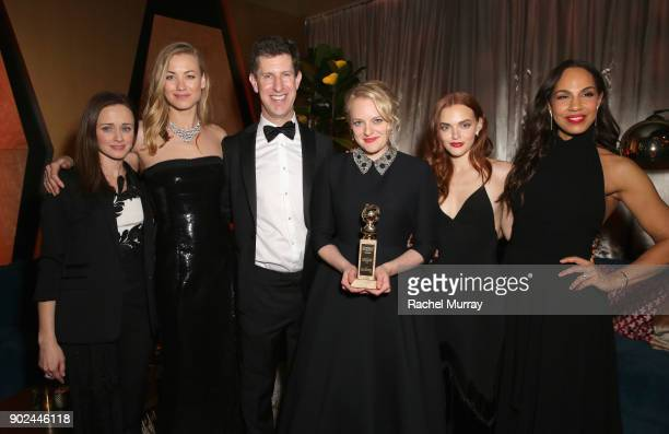 Actors Alexis Bledel Yvonne Strahovski Hulu Senior Vice President of Content Craig Erwich Actors Elisabeth Moss Madeline Brewer and Amanda Brugel...