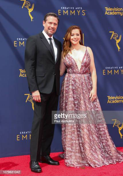 Actors Alexis Denisof and Alyson Hannigan attend the 2018 Creative Arts Emmy Awards Day 1 at Microsoft Theater on September 8 2018 in Los Angeles...