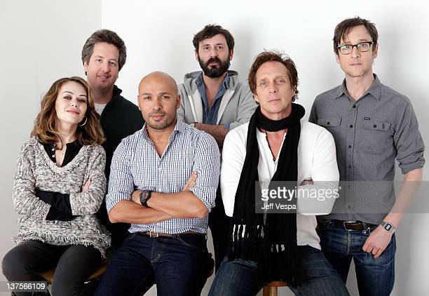 Actors Alexis Dziena Steve Little Eric Judor writer/director Quentin Dupieux and actors William Fichtner and Jack Plotnick pose for a portrait during...