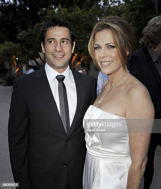 Actors Alexis Georgoulis and Rita Wilson pose at the premiere of Fox Searchlight's My Life in Ruins at the Zanuck Theater on May 29 2009 in Los...