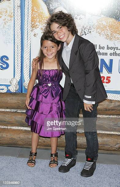 Actors Alexys Nycole Sanchez and Cameron Boyce attend the premiere of 'Grown Ups' at the Ziegfeld Theatre on June 23 2010 in New York City