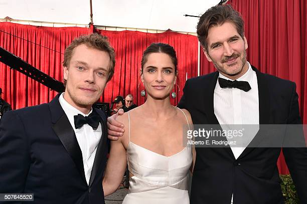 Actors Alfie Allen Amanda Peet and writer David Benioff attend the 22nd Annual Screen Actors Guild Awards at The Shrine Auditorium on January 30 2016...